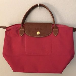 Longchamp Le Pliage Small Bag In Berry